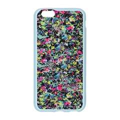Neon Floral Print Silver Spandex Apple Seamless iPhone 6/6S Case (Color)