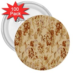 Patterns Flowers Petals Shape Background 3  Buttons (100 pack)