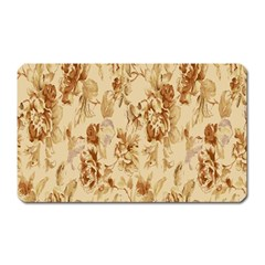 Patterns Flowers Petals Shape Background Magnet (Rectangular)