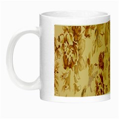 Patterns Flowers Petals Shape Background Night Luminous Mugs