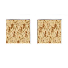 Patterns Flowers Petals Shape Background Cufflinks (square)