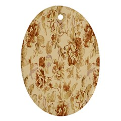 Patterns Flowers Petals Shape Background Oval Ornament (Two Sides)