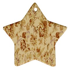 Patterns Flowers Petals Shape Background Star Ornament (Two Sides)