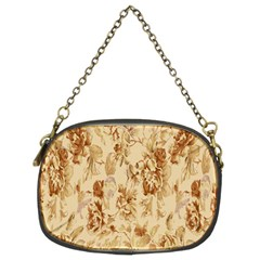 Patterns Flowers Petals Shape Background Chain Purses (two Sides)