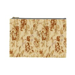 Patterns Flowers Petals Shape Background Cosmetic Bag (Large)