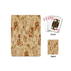 Patterns Flowers Petals Shape Background Playing Cards (Mini)