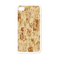 Patterns Flowers Petals Shape Background Apple iPhone 4 Case (White)