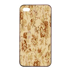 Patterns Flowers Petals Shape Background Apple iPhone 4/4s Seamless Case (Black)