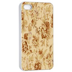 Patterns Flowers Petals Shape Background Apple iPhone 4/4s Seamless Case (White)