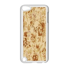 Patterns Flowers Petals Shape Background Apple iPod Touch 5 Case (White)