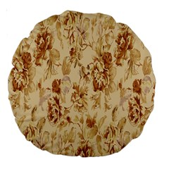 Patterns Flowers Petals Shape Background Large 18  Premium Round Cushions