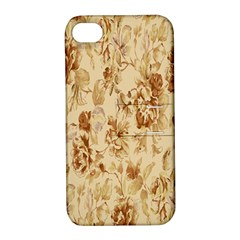 Patterns Flowers Petals Shape Background Apple iPhone 4/4S Hardshell Case with Stand