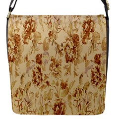 Patterns Flowers Petals Shape Background Flap Messenger Bag (S)