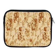 Patterns Flowers Petals Shape Background Apple iPad 2/3/4 Zipper Cases