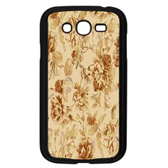Patterns Flowers Petals Shape Background Samsung Galaxy Grand DUOS I9082 Case (Black)