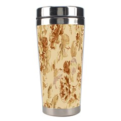 Patterns Flowers Petals Shape Background Stainless Steel Travel Tumblers