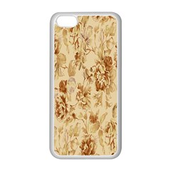 Patterns Flowers Petals Shape Background Apple Iphone 5c Seamless Case (white)