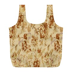 Patterns Flowers Petals Shape Background Full Print Recycle Bags (l)