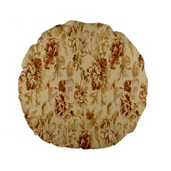 Patterns Flowers Petals Shape Background Standard 15  Premium Flano Round Cushions