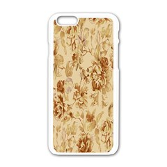 Patterns Flowers Petals Shape Background Apple Iphone 6/6s White Enamel Case