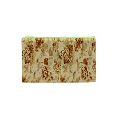 Patterns Flowers Petals Shape Background Cosmetic Bag (XS)