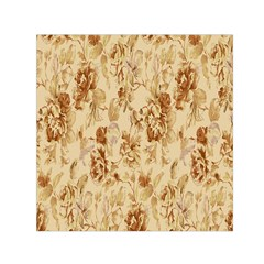Patterns Flowers Petals Shape Background Small Satin Scarf (square)
