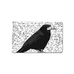 Black raven  Magnet (Name Card)