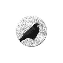 Black raven  Golf Ball Marker