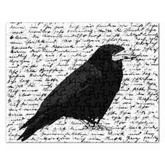 Black raven  Rectangular Jigsaw Puzzl