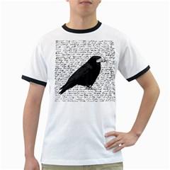 Black raven  Ringer T-Shirts