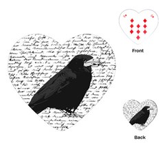 Black raven  Playing Cards (Heart)