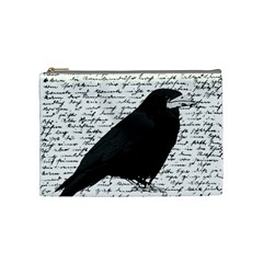 Black raven  Cosmetic Bag (Medium)