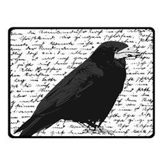 Black raven  Fleece Blanket (Small)