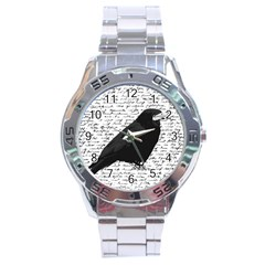 Black raven  Stainless Steel Analogue Watch