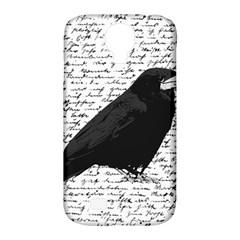 Black raven  Samsung Galaxy S4 Classic Hardshell Case (PC+Silicone)