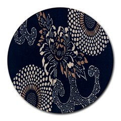 Patterns Dark Shape Surface Round Mousepads