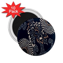 Patterns Dark Shape Surface 2 25  Magnets (10 Pack)