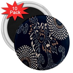 Patterns Dark Shape Surface 3  Magnets (10 pack)