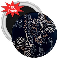Patterns Dark Shape Surface 3  Magnets (100 pack)