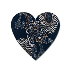 Patterns Dark Shape Surface Heart Magnet