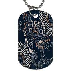 Patterns Dark Shape Surface Dog Tag (Two Sides)