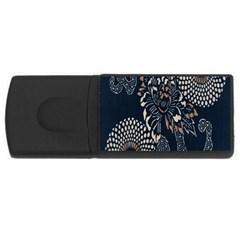 Patterns Dark Shape Surface USB Flash Drive Rectangular (1 GB)