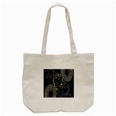 Patterns Dark Shape Surface Tote Bag (Cream)