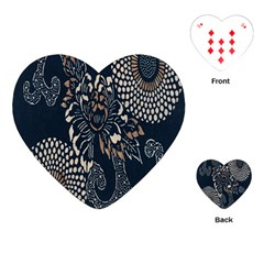 Patterns Dark Shape Surface Playing Cards (heart)