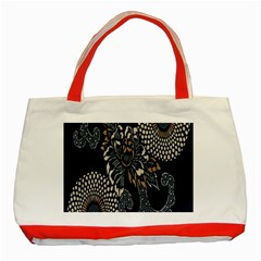Patterns Dark Shape Surface Classic Tote Bag (Red)