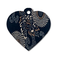 Patterns Dark Shape Surface Dog Tag Heart (two Sides)