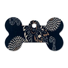 Patterns Dark Shape Surface Dog Tag Bone (one Side)