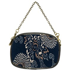 Patterns Dark Shape Surface Chain Purses (One Side)
