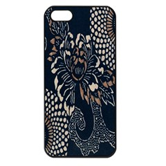 Patterns Dark Shape Surface Apple iPhone 5 Seamless Case (Black)