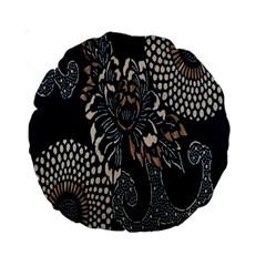 Patterns Dark Shape Surface Standard 15  Premium Round Cushions